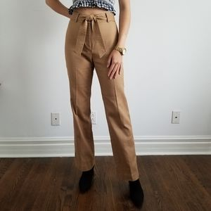 Trouser Pants with Self Tie Belt